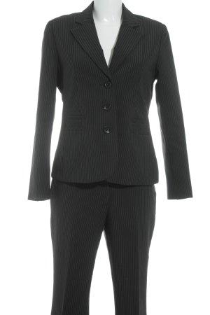 Laura Scott Hosenanzug schwarz-weiß Streifenmuster Business-Look