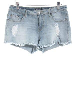 Laura Scott Hot Pants blassblau Destroy-Optik