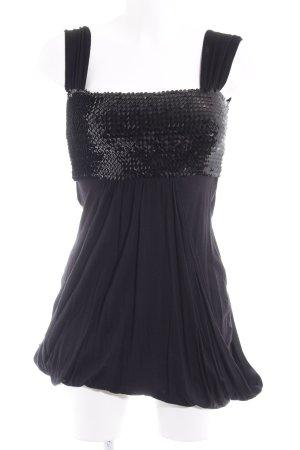 Laura Scott Jerseykleid schwarz Schimmer-Optik