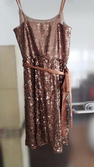 Laura Scott Jurk met pailletten brons-goud