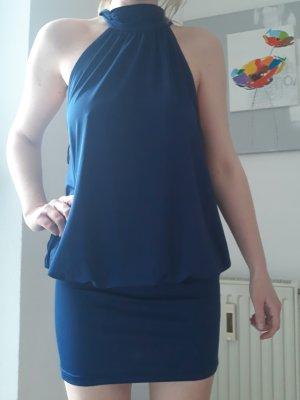 Laura Scott Halter Dress blue