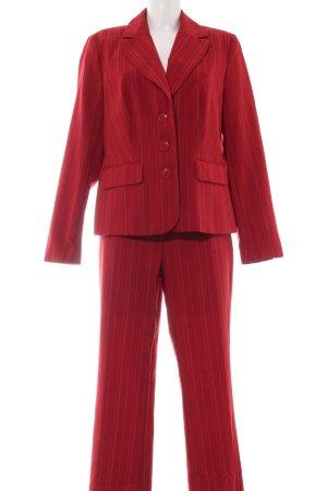 Laura Scott Kostüm rot Streifenmuster Business-Look