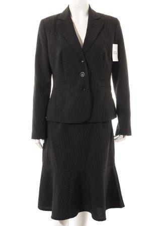 Laura Scott Kostüm schwarz-weiß Nadelstreifen Business-Look