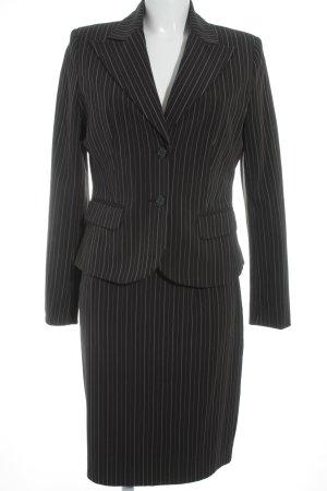 Laura Scott Kostüm schwarz-weiß Streifenmuster Business-Look