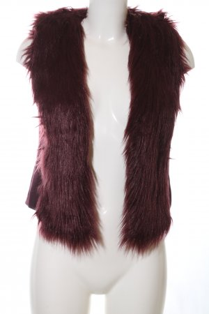 Laura Scott Fake Fur Vest red elegant