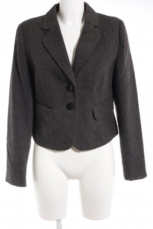 Laura Scott Kurz-Blazer dunkelgrau Zackenmuster Business-Look