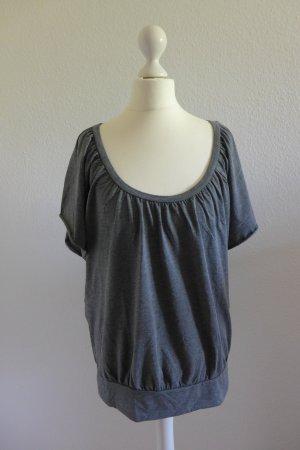 Laura Scott Kurzarm Shirt Oberteil Top grau Gr. 40