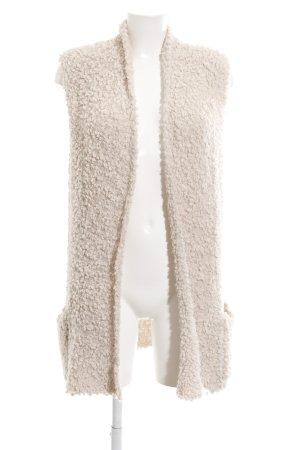 Laura Scott Long Knitted Vest cream-natural white elegant