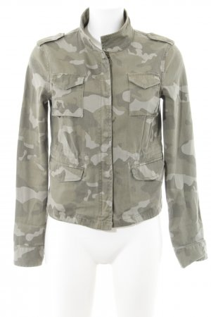 Laura Scott Veste militaire kaki motif de camouflage style boyfriend