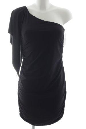 Laura Scott Vestido de un hombro negro elegante