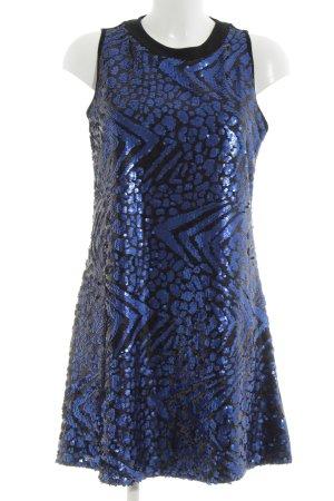 Laura Scott Abito con paillettes nero-blu stile festa