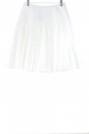 Laura Scott Pleated Skirt white simple style