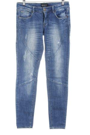 Laura Scott Tube Jeans steel blue flecked casual look