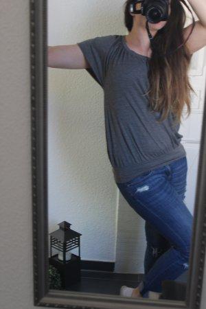 Laura Scott Shirt grau dunkelgrau meliert Gr. 34
