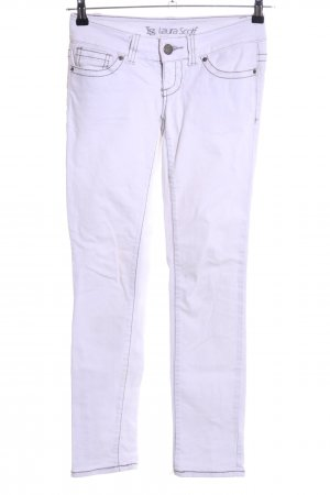 Laura Scott Slim Jeans weiß Casual-Look