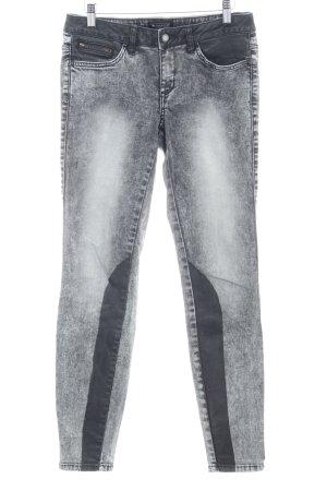 Laura Scott Slim Jeans grau-schwarz meliert Casual-Look