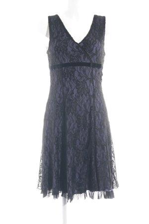 Laura Scott Kanten jurk zwart-paars elegant
