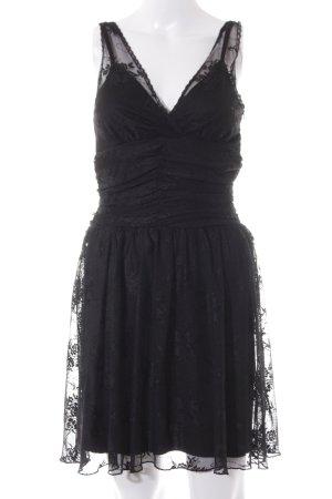 Laura Scott Kanten jurk zwart feest stijl