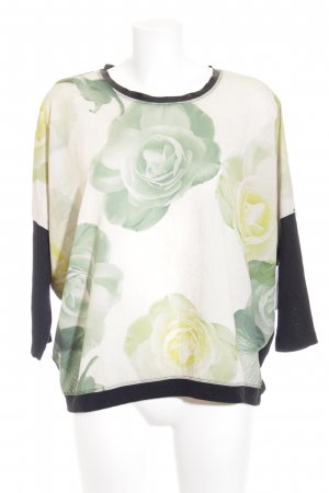 Laura Scott Strickpullover Blumenmuster Casual-Look