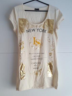 Laura Scott T-shirt nude gold