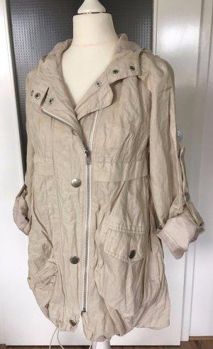 Laura Scott Trenchcoat XS 32 34 Regenjacke Herbst Parka Übergangsjacke Mantel Creme Nude