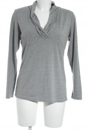 Laura Scott V-Ausschnitt-Shirt grau Casual-Look