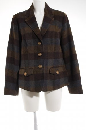 Laura Scott Wool Blazer check pattern elegant