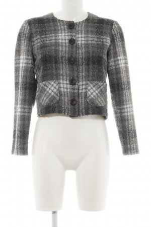 Laura Knitted Blazer check pattern business style