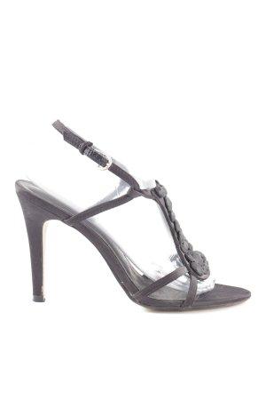 Laura T-Steg-Sandaletten schwarz Casual-Look