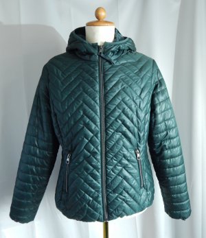 Laura Torelli Quilted Jacket forest green polyester