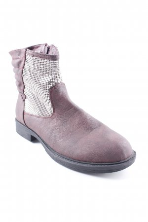 Laura Torelli Reißverschluss-Stiefeletten purpur-silberfarben Casual-Look