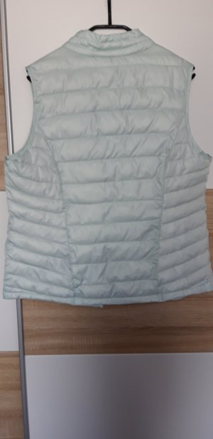 Laura Torelli Quilted Gilet mint-turquoise polyester