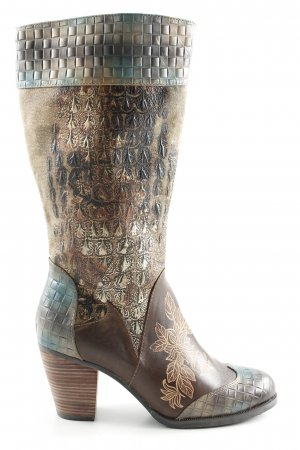 Laura Vita Heel Boots animal pattern casual look