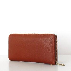 Wallet brown-cognac-coloured imitation leather