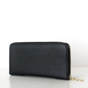 LAURA Wallet Saffiano Schwarz Geldbörse Portemonnaie