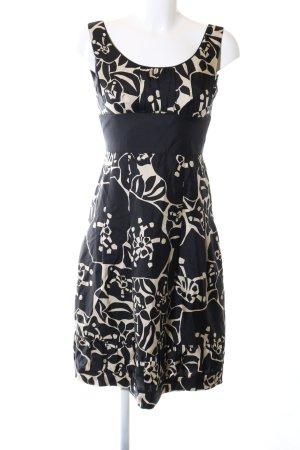 Laurèl A-Linien Kleid schwarz-wollweiß abstraktes Muster Elegant