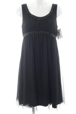 Laurèl Vestido línea A negro elegante