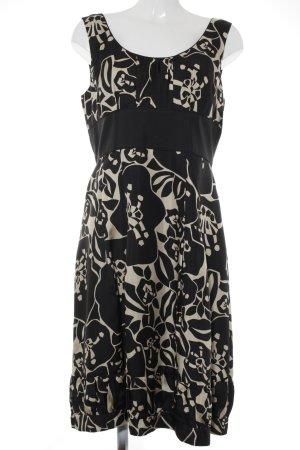 Laurèl Abendkleid schwarz-creme abstraktes Muster klassischer Stil