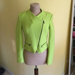 Laurèl Short Blazer neon green wool