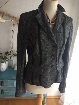 Laurèl Tweed blazer antraciet-zwart