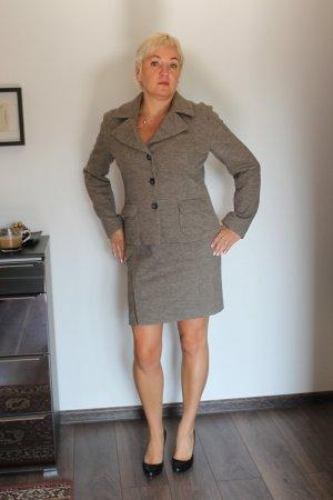 Laurel Blazer Rock Kostüm 100% Wolle Neu mit Etikett Gr 40 beige