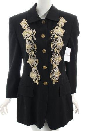Laurèl Blazer schwarz-goldfarben Elegant