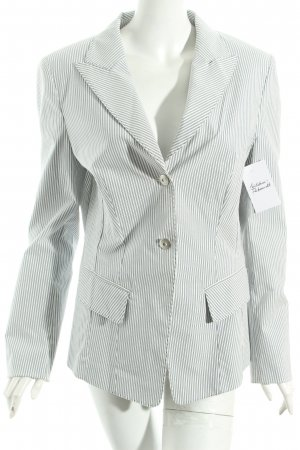 Laurèl Blazer weiß-graublau Streifenmuster klassischer Stil