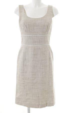 Laurèl Pencil Dress cream-beige check pattern business style