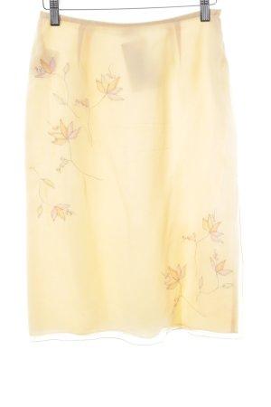 Laurèl Bleistiftrock creme Blumenmuster Elegant