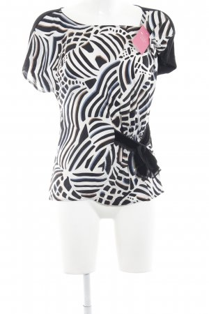 Laurèl Empiècement de blouses motif d'art élégant
