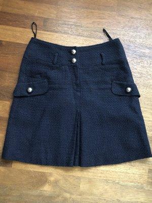 Laurèl Tweed rok donkerblauw