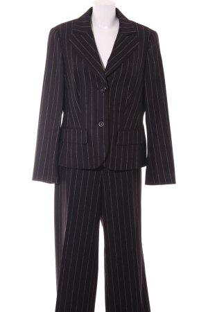 Laurèl Business-Anzug anthrazit-weiß Streifenmuster Business-Look