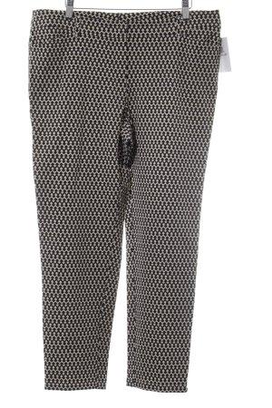 Laurèl Caprihose schwarz-creme abstraktes Muster Casual-Look