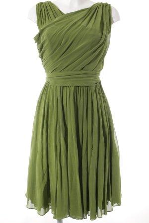 Laurèl Robe chiffon vert gazon élégant